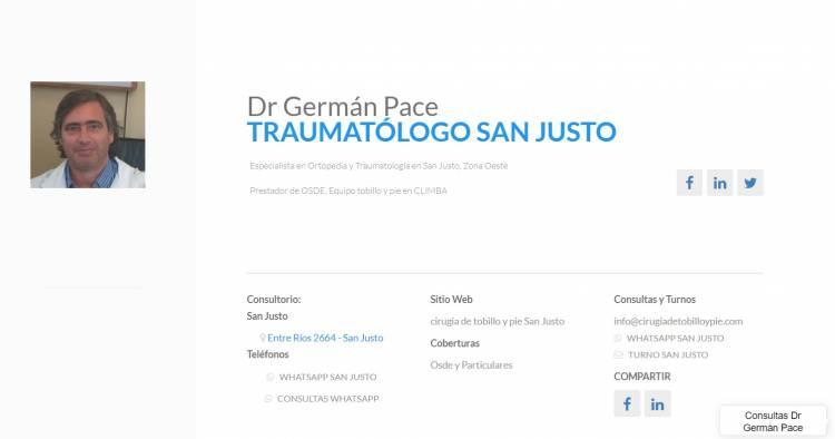 Dr German Pace Traumatologo especialista en pie zona oeste