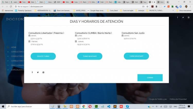 Consultorios Dias y Horarios de Atencion