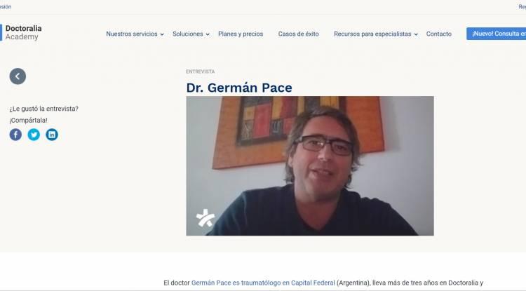 Entrevista con Doctoralia DoctorGermán Pace