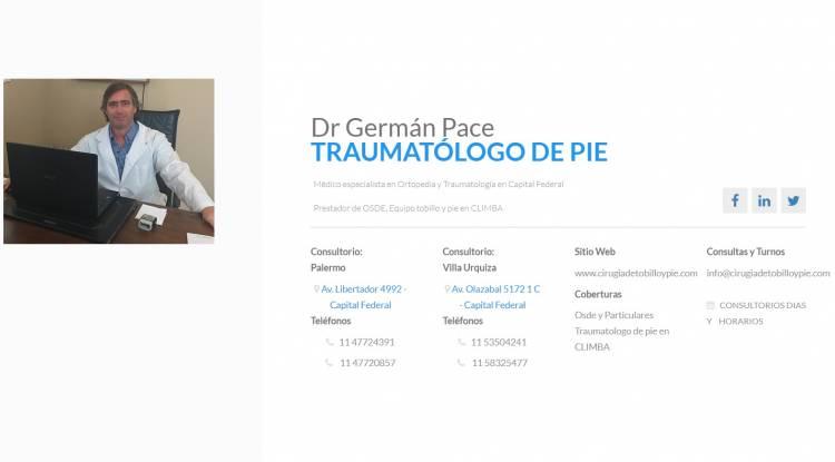 Medico  especialista en Cirugia Percutanea de juanetes Argentina