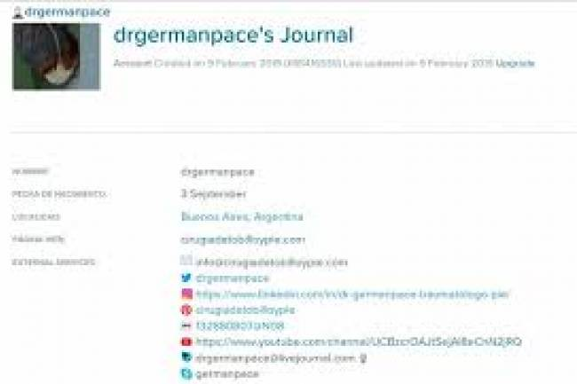 Dr German Pace  Live Journal