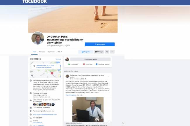 Facebook : Dr German Pace - Traumatólogo especialista en pie y tobillo @cirugiadetobilloypie