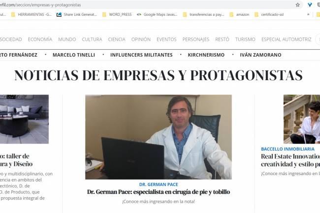 Dr. German Pace especialista en cirugía de pie y tobillo